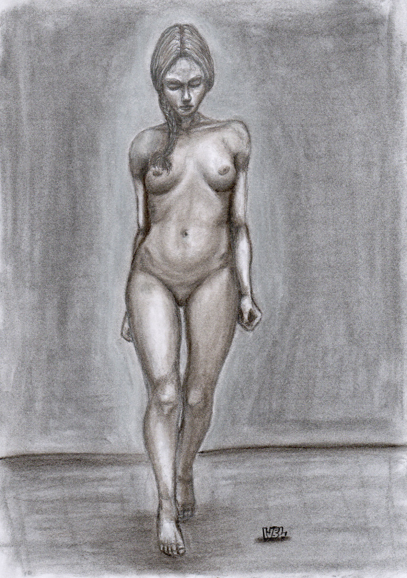 Drawing a naked lady-4920